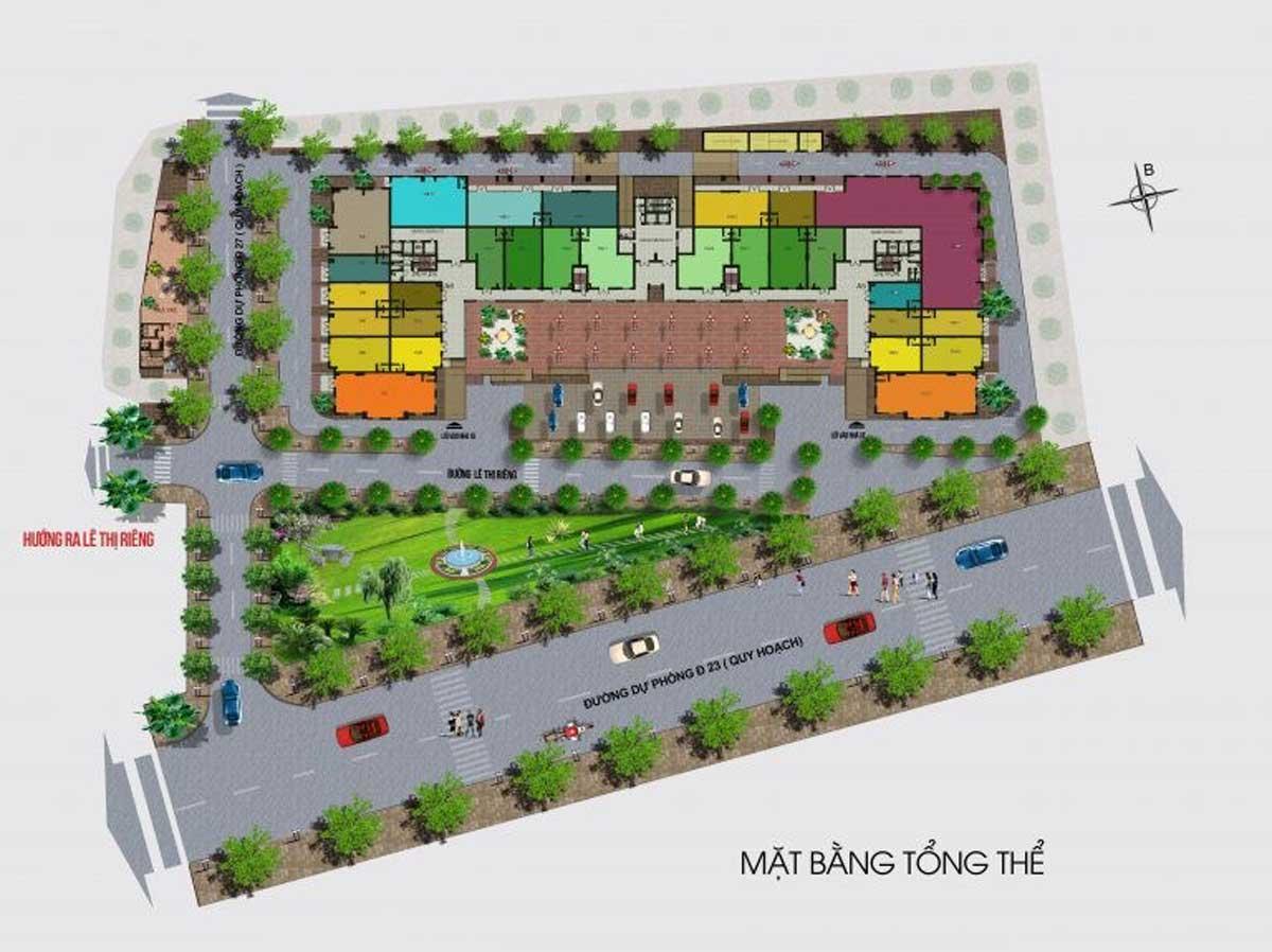 Mặt bằng tổng thể dự án căn hộ green Mark