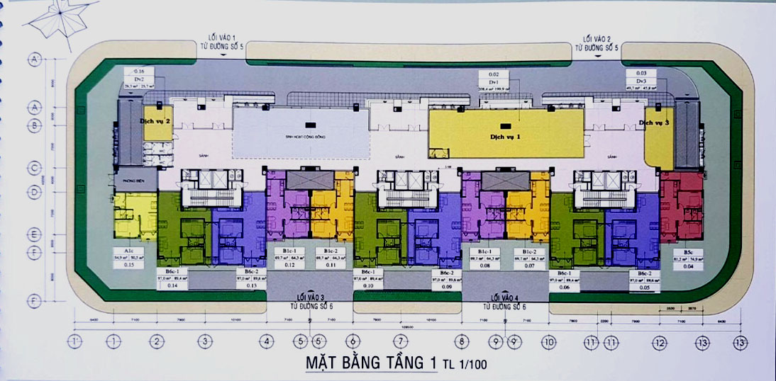 mặt bằng chung cư an hội 3 gò vấp -tầng trệt