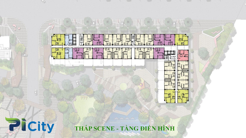 Thiết kế căn hộ Pi City Quận 12-Mặt bằng tầng tháp Scene -C5