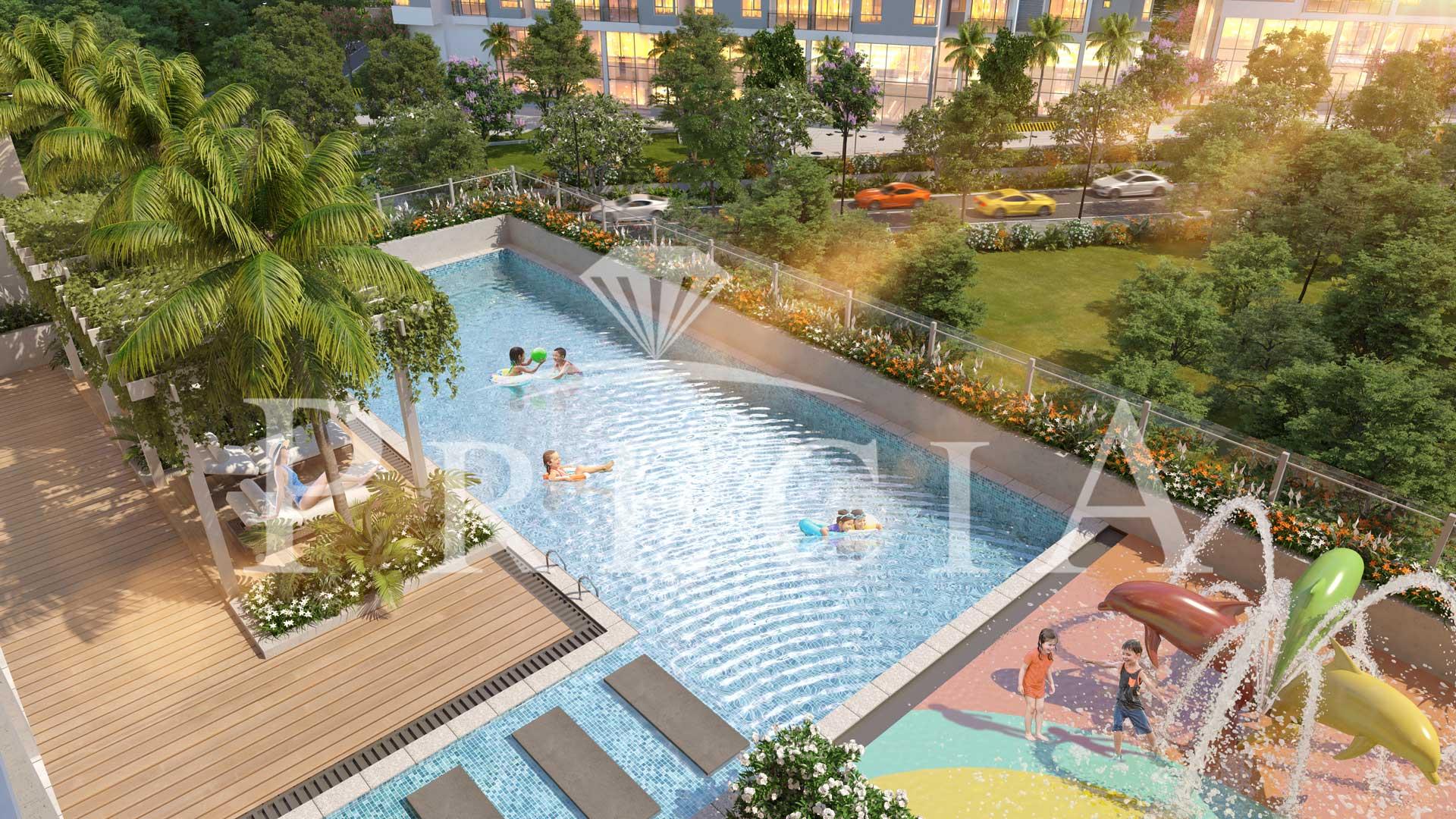 Căn hộ Precia Quận 2- Phối cảnh hồ bơi trẻ em
