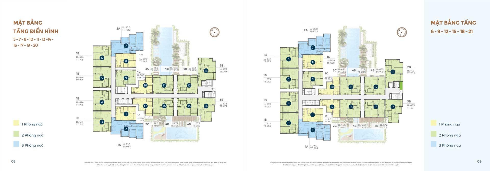 mặt bằng tầng 5 đến 21 căn hộ Precia Quận 2