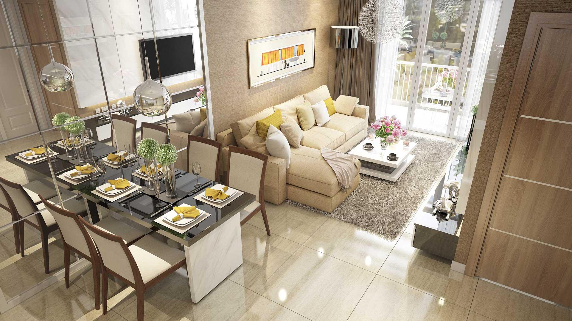 Dự án Opal Skyline Phòng khách 02