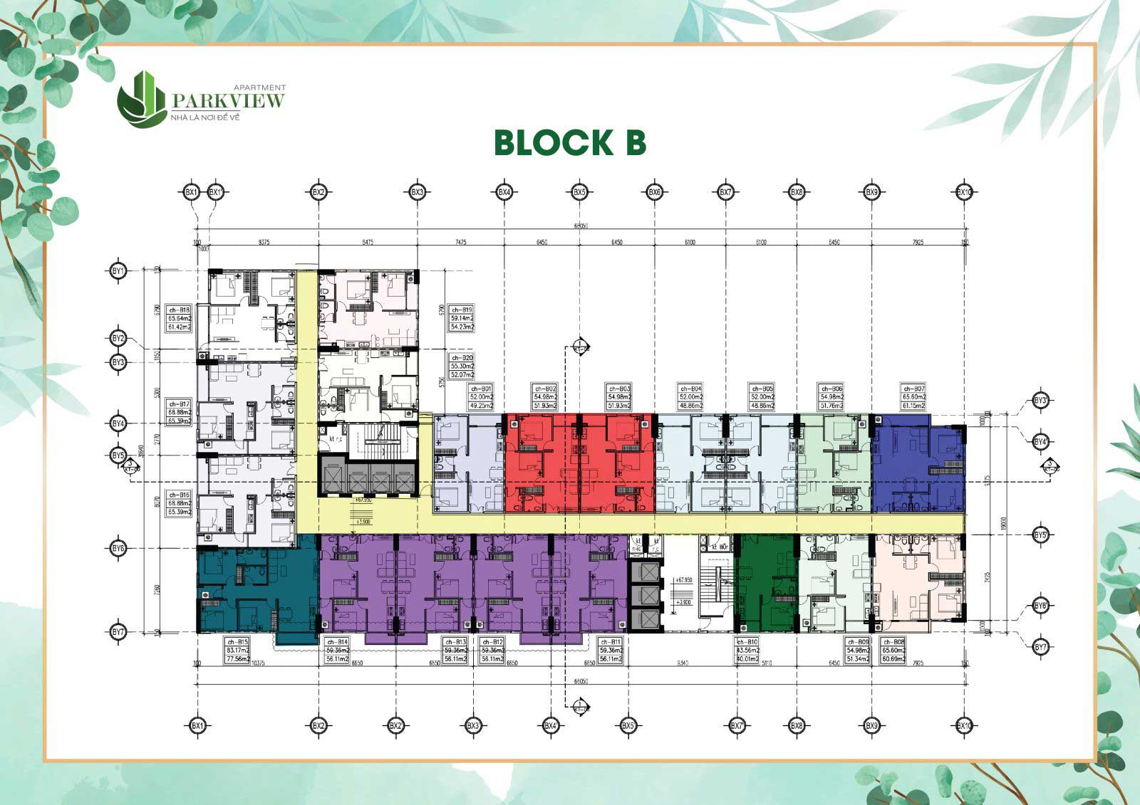 Thiết kế căn hộ Parkview Bình Dương - Block B
