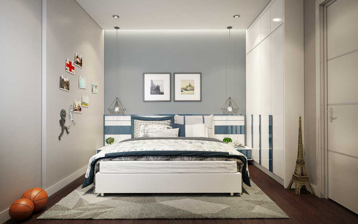 Thiết kế phòng ngủ căn hộ Opal Skyline