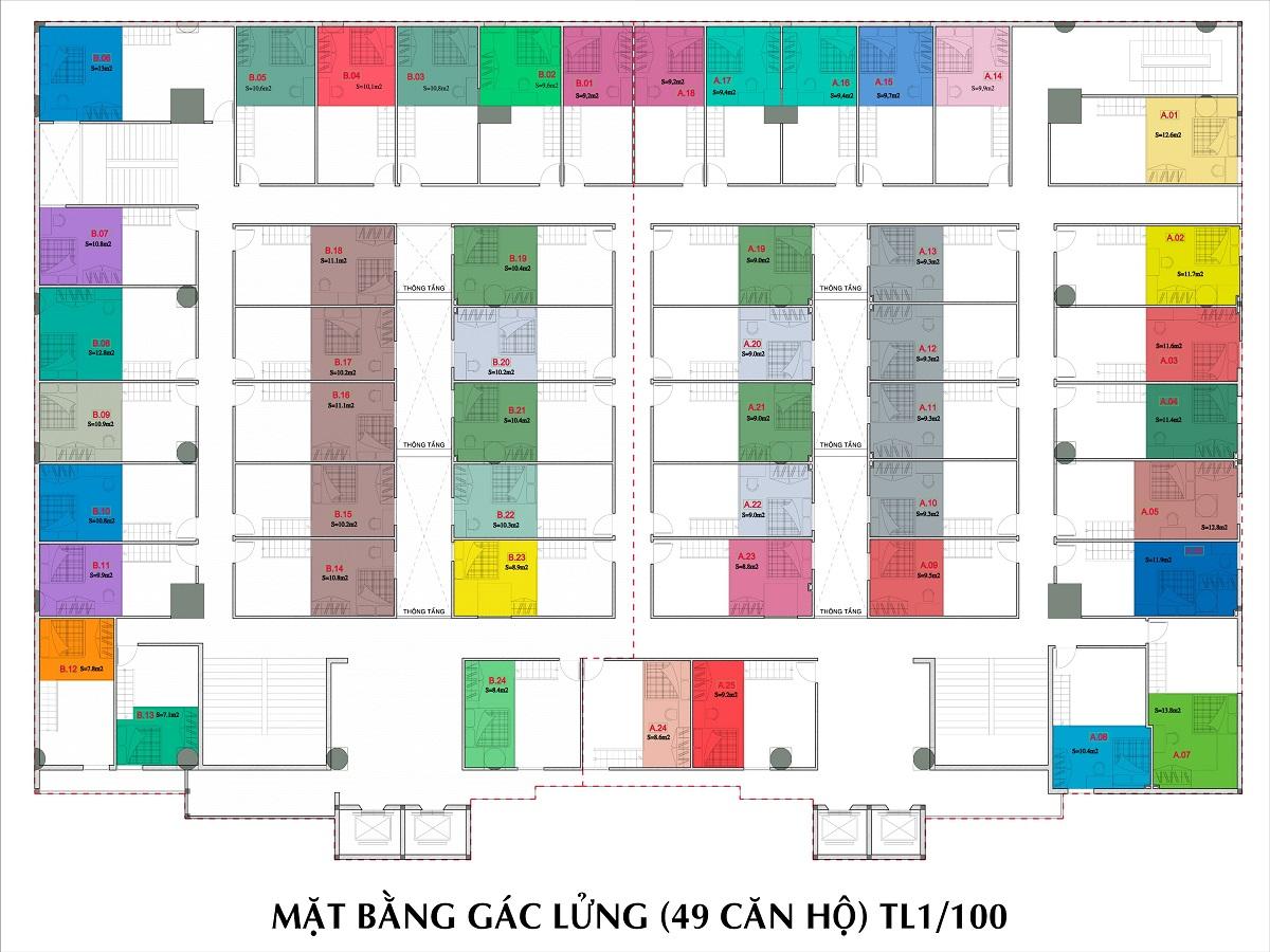 Mat bang dự án 9x Golden Stella Binh Tan