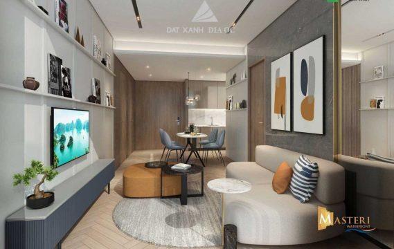 Phòng khách - căn hộ masteri waterfront