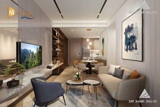 Phòng khách mẫu 02 - căn hộ masteri waterfront