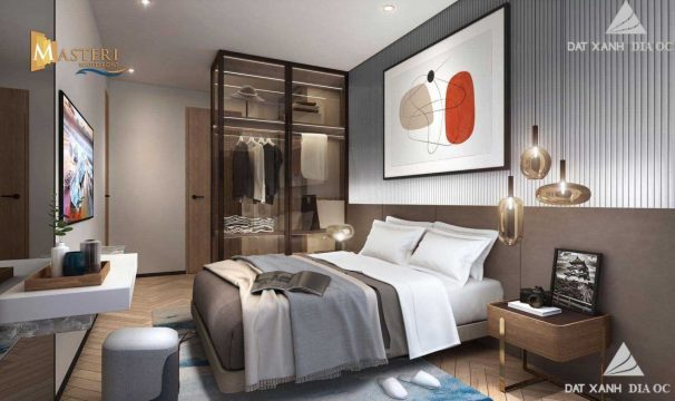 Phòng ngủ Master -Căn hộ Chung cư Masteri Waterfront
