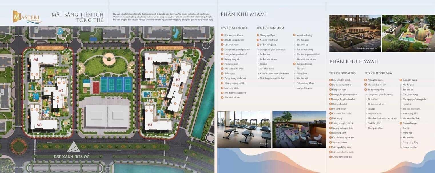 Sơ đồ tiện ích tổng thể của dự án Masteri Waterfront