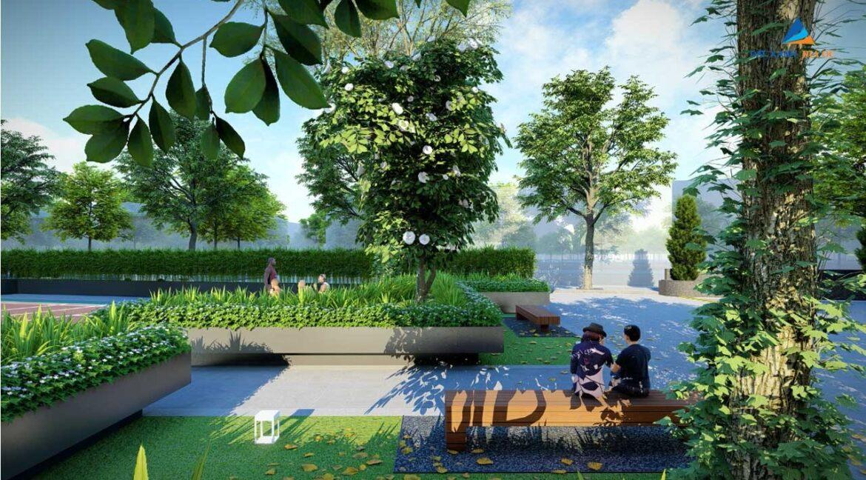 Tiến ích dự án Rose Town Ngọc Hồi - Đường dạo bộ nội khu
