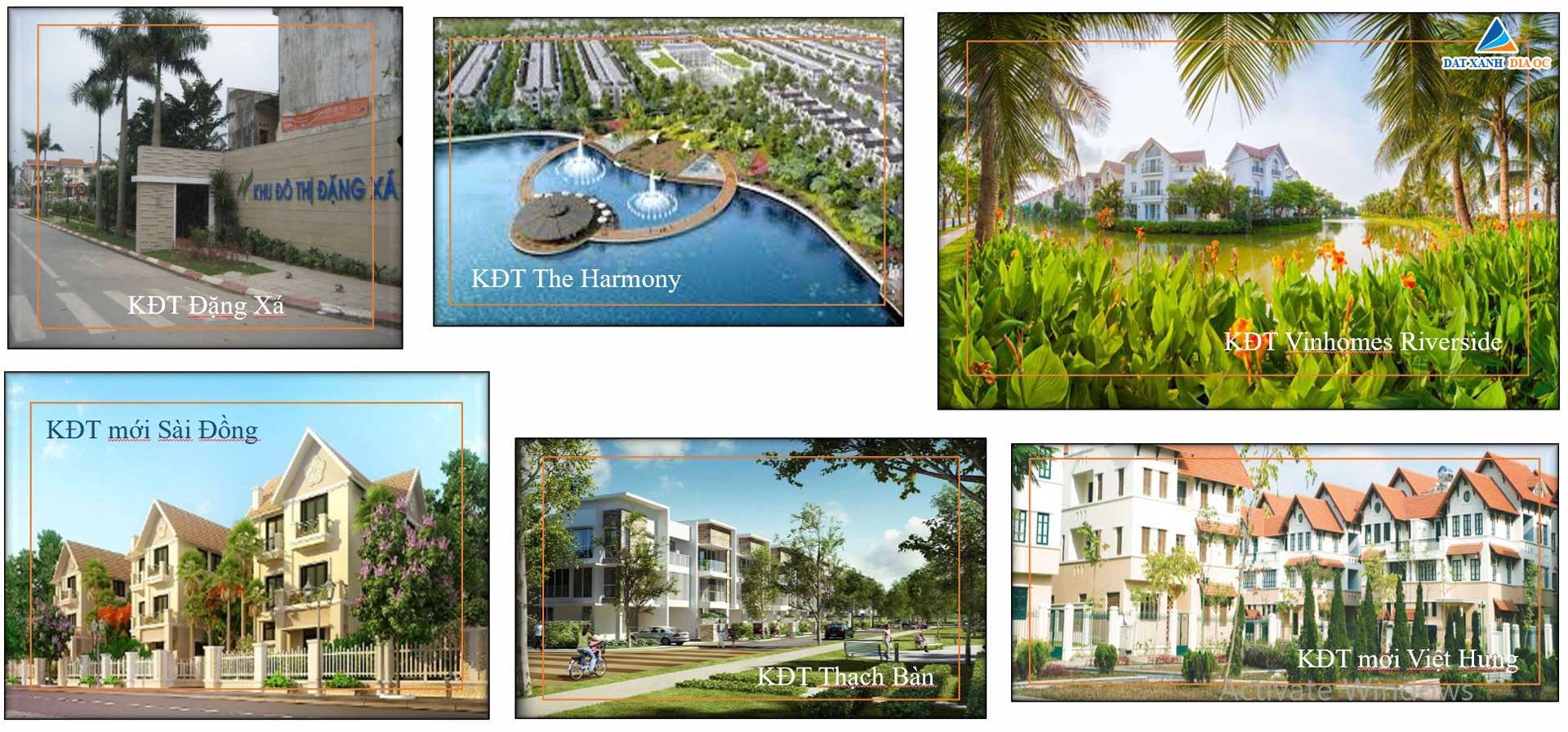Các khu đô thị liền kề dự án căn hộ HC Golden City