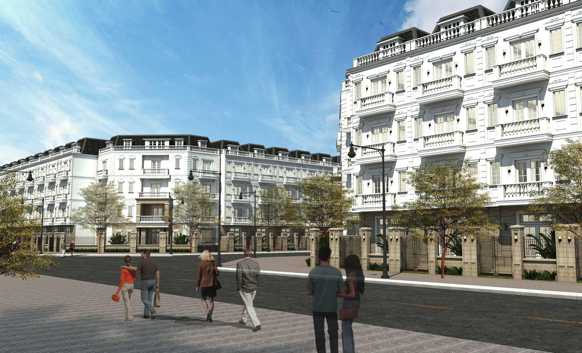 Tiện ích Shophouse - nhà phố liền kề tại căn hộ HC Golden City