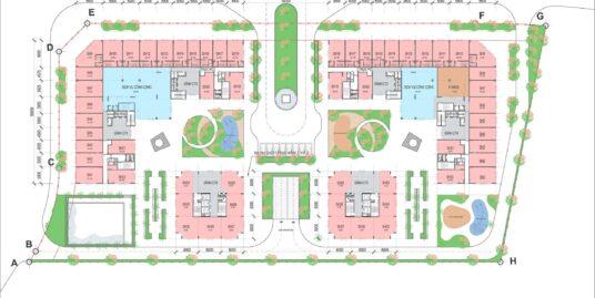 Mặt bằng tầng 1 dự án chung cư Eco Smart City Long Biên