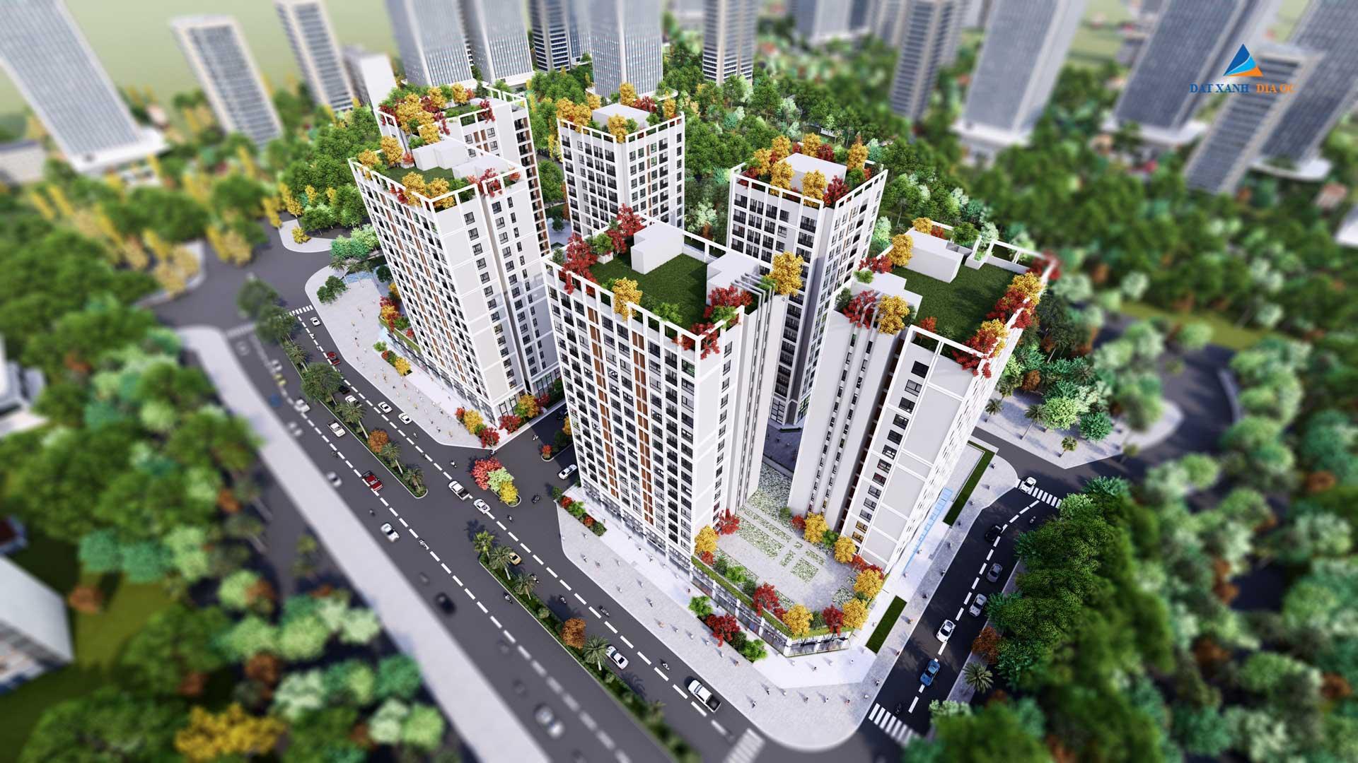 Phối cảnh Eco Smart City Cổ Linh Long Biên