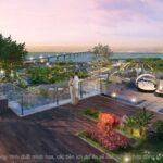 Sân vườn trên tầng thượng Eco Smart City Cổ Linh