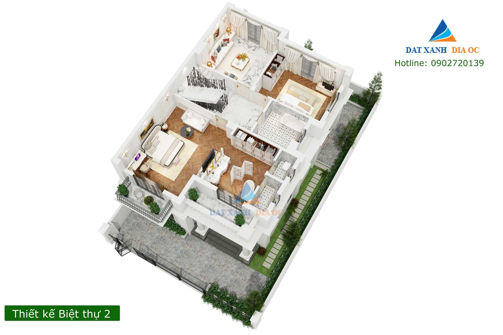 Thiết kế Eurowindow Gia Lâm - Biệt thự mẫu 1