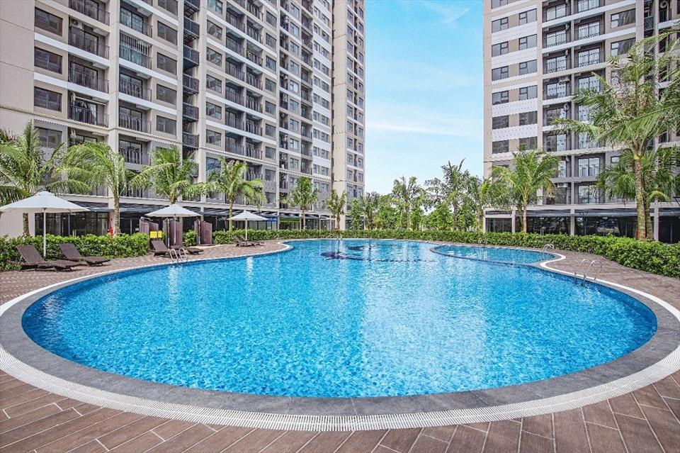 Bể bơi nội khu dự án 01