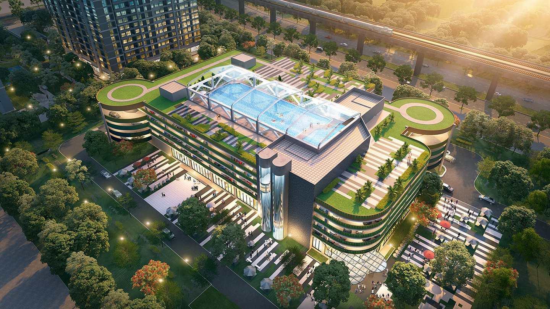 bể bơi nội khu dự án Vinhomes Ocean Park