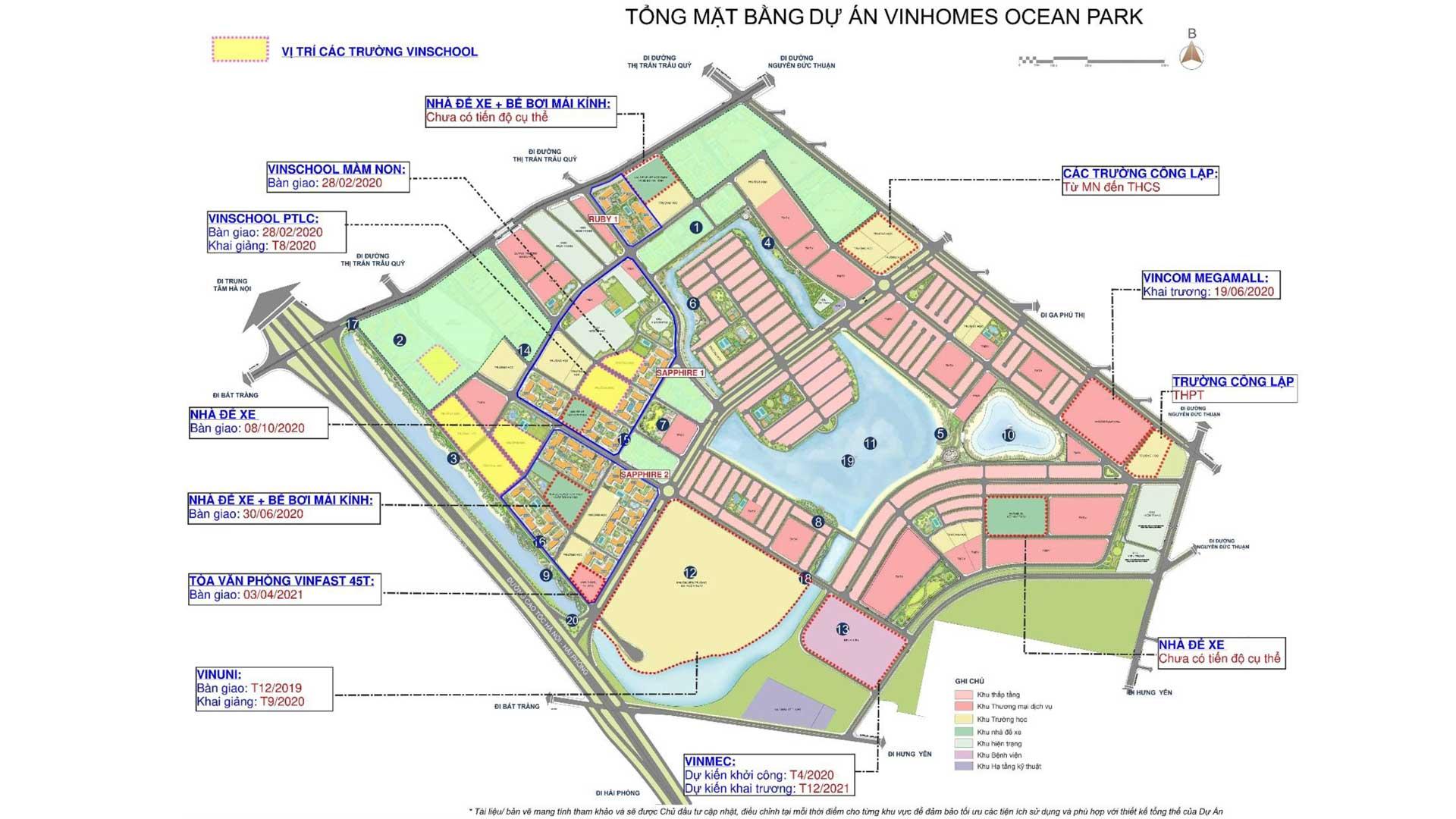 Mặt bằng tổng thể dự án Vinhomes Ocean Park