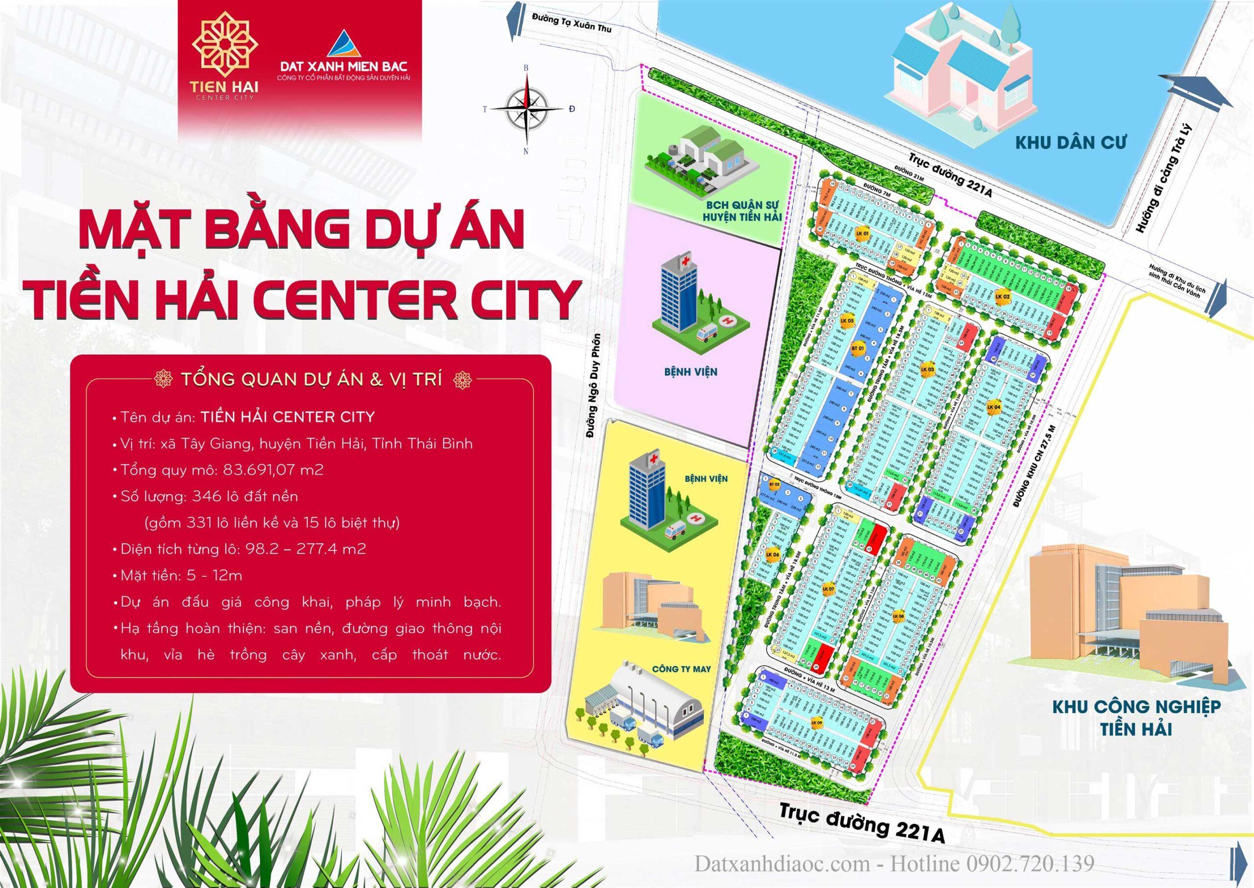 Mặt bằng tổng thể dự án Tiền Hải Center City Thái Bình