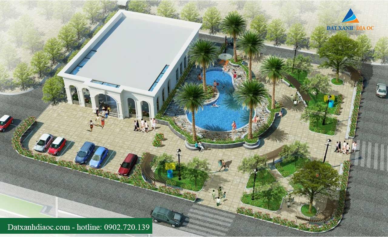 Phối cảnh hồ bơi dự án Eco City Việt Hưng