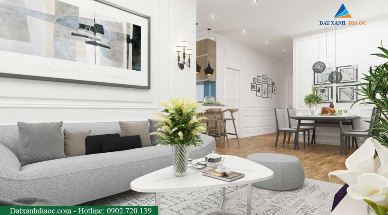 Nhà mẫu dự án - Phòng khách