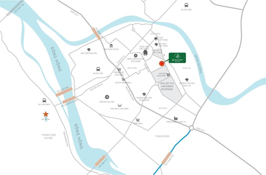 Vị trí Chung cư Eco City Việt Hưng