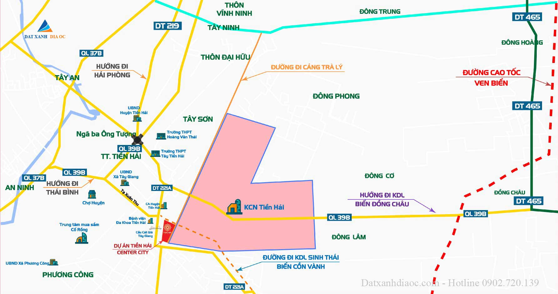 Vị trí dự án Tiền Hải Center City Thái Bình