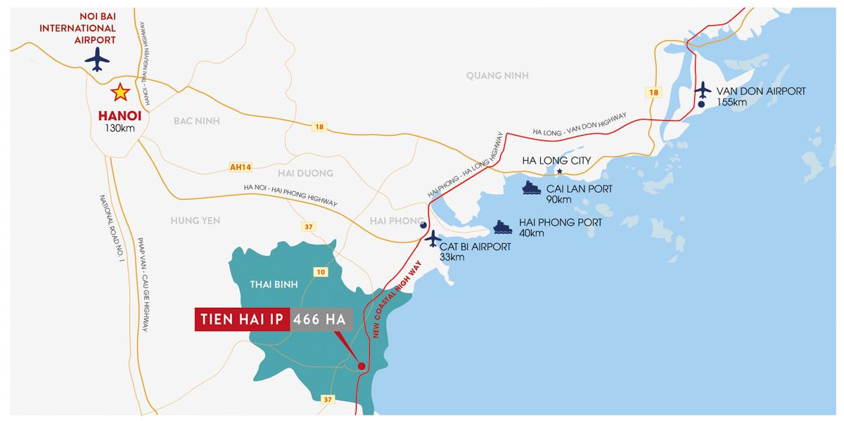 Vị trí liền kề tuyến đường vành đai ven biển