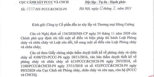 Phê duyệt PCCC dự án HC Golden City